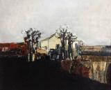 Ignat Stefanov - Peisaj , ulei carton