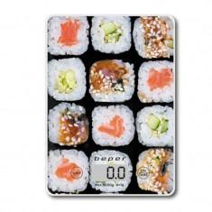Cantar de bucatarie Beper, 5 kg, functie TARA, model sushi