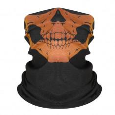 Masca protectie fata craniu, culoare portocalie, paintball, ski, airsoft