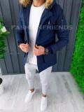 Geaca de iarna pentru barbati PREMIUM - albastra - geaca slim fit - A6465