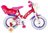 Bicicleta copii Volare Minnie Mouse cu roti ajutatoare 12 inch cu 2 frane mana