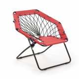 Cumpara ieftin Scaun pliabil pentru copii, din metal si poliester Widget Red / Black, l83xA72xH75 cm