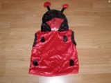 costum carnaval serbare buburuza pentru copii de 2-3-4 ani