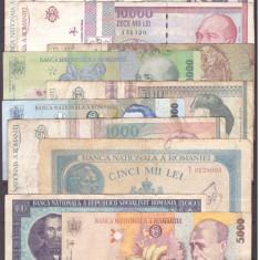 Romania - Lot bancnote vechi, uzate