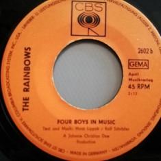 """The Rainbows – Four Boys In Music/Don't Cry (1969/CBS/RFG) -VINIL/""""7 Single/VG+"""