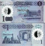 !!! LIBIA - 1 DINAR (2019) - P NEW - UNC / POLIMER