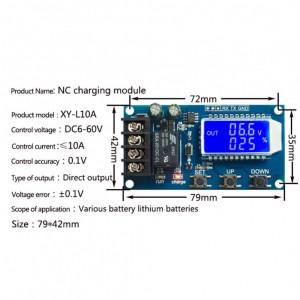 Controler incarcare baterie cu temporizare 6-60V 10A 30A