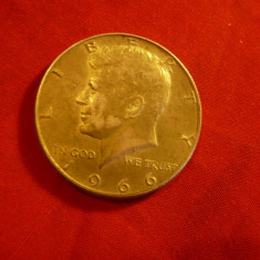 Moneda 1/2 $ 1966 SUA argint cal. F.Buna