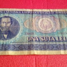 Bancnota 100 de lei 1966
