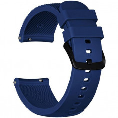 Curea ceas Smartwatch Samsung Gear S2, iUni 20 mm Silicon Midnight Blue