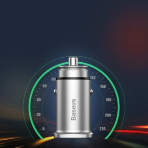 Incarcator Auto Baseus Square Universal Smart, 2x USB QC3.0 Quick Charge 3.0, Negru