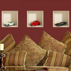 Sticker Decor Interior 3D Retro Cars