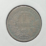 Moneda din argint Germania Deutsches Reich 1 Mark  - 1 Marca 1873