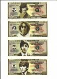 Marea Britanie - Editie limitata Kensington Mint - Set 4 Bancnote- THE  BEATLES