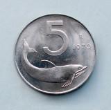 ITALIA - 5 Lire 1970 - aUNC, Europa, Aluminiu
