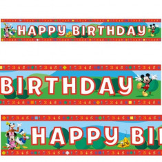 Banner decorativ Party din folie 4.65 m Mickey Mouse