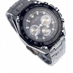 Ceas de mana barbati elegant, argintiu - Curren - 8077NSILVER