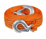 Chinga remorcare sufa ancorare si/sau ridicare chinga tractare 5 tone, lungime 4 metri, fixare cu carlige,orange