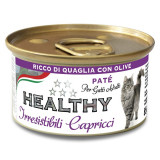 Pate Pisica, Healthy Irresistibili, cu prepelita si masline, 85g