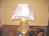 5989-Lampa picior sticla abajur mijloc onix cu culori schimbabile.