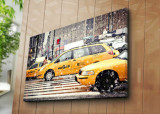 Tablou decorativ pe panza Horizon, 237HRZ5265, 70 x 100 cm, Multicolor