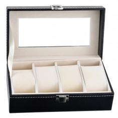 Caseta Organizare 4 Ceasuri - Inchidere cu Clema - WZ3707