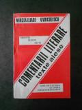 MIRCEA ELIADE, V. VOICULESCU - COMENTARII LITERARE