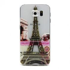 Husa Samsung Galaxy S6 - Diamond Embossing Eiffel Tower