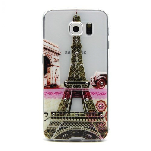 Husa Samsung Galaxy S6 - Diamond Embossing Eiffel Tower