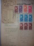 LOT 75 document 1930 cu timbre fiscale Ferdinand -efigia in cerc, Stampilat