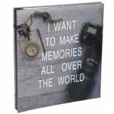 Cumpara ieftin Album foto Pufo pentru poze de diferite dimensiuni, model Make memories all over the world, 30 pagini