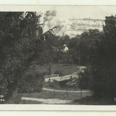 cp Bucuresti : Parcul Carol - circulata 1927, timbre