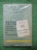 TESTE PT. OBTINEREA PERMISULUI DE CONDUCERE - 1991