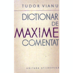 Dictionar de maxime comentat (1962)