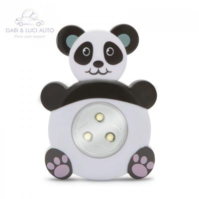 """Lampă de veghe cu buton, model """"Panda"""" foto"""
