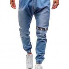 Jogger jeans pentru bărbat albaștri-deschis Bolf 2031