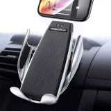 Suport auto cu încărcător wireless inteligent, compatibil cu toate tipurile de telefon care suportă încărcare wireless