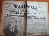 ziarul viitorul 23 iunie 1935-monumentul de la ramnicu valcea a lui ion g. duca