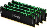 Memorii Kingston FURY Renegade RGB 32GB(4x8GB), DDR4-3000Mhz, CL15, Quad Channel