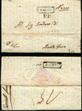 Italy 1810 Postal History Rare Stampless Cover + Content Fermo Montefiore D.1085
