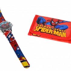 Set ceas pentru copii cu Spider-man + portofel cadou - COCO6604