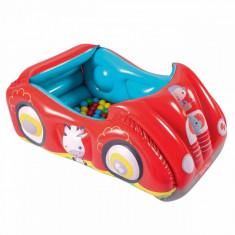 Loc de joaca gonflabil, model masina, 25 de bile incluse