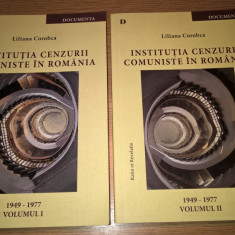 Institutia cenzurii comuniste in Romania (2 vol.) - Liliana Corobca (autograf)