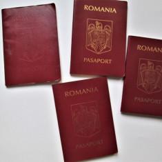 Lot, 4 Pasapoarte expirate, Romania: Piese de colectie.