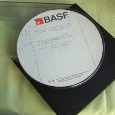 Banda Magnetofon BASF 18 cm - Inregistrata o singura data.