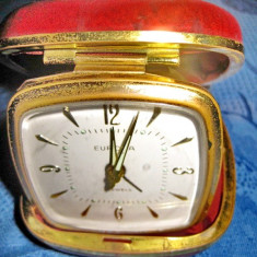 374- Europa-Ceas vechi voiaj functional capac gen piele de sarpe rosie.