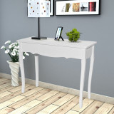 vidaXL Masă de toaletă tip consolă, alb