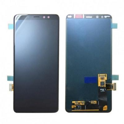 Display lcd cu touchscreen samsung a750 galaxy a7 2018 negru original foto