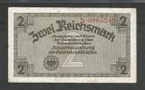 GERMANIA NAZISTA  2 MARCI  REICHSMARK 1940 [22] P- 137a ,7 cifre , Litera N , VF