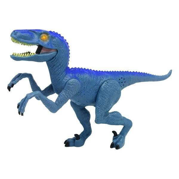 Dinozaur cu Lumini + Sunete Dragon I Velociraptor Blue